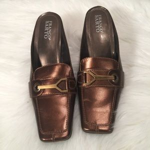 Franco Sarto Gold slip on loafers 7.5